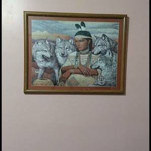 Puzzle of wolf, Native America Image